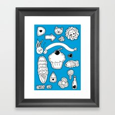 Sticker World Framed Art Print