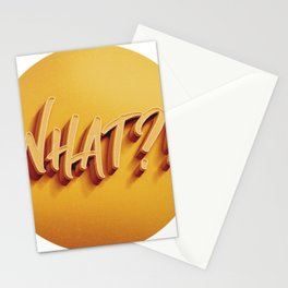what?! Stationery Cards