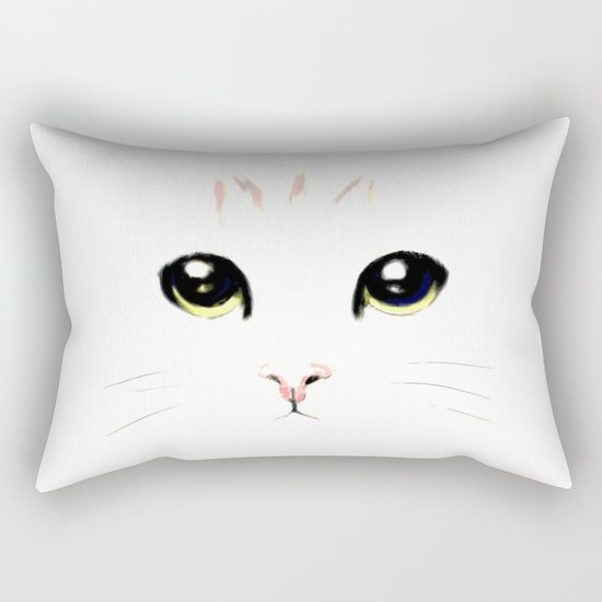 cat white Rectangular Pillow
