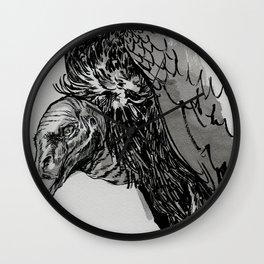 Vulture Study no.3 Wall Clock