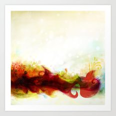 Abstract Splats by Friztin Art Print