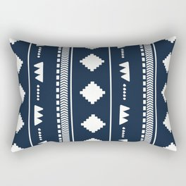 Southwestern Navy Rectangular Pillow