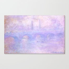 "Claude Monet ""Waterloo Bridge, Effect of Fog"" Canvas Print"