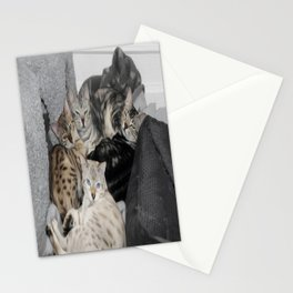 Bengal Cat Kitty Pile  Stationery Cards
