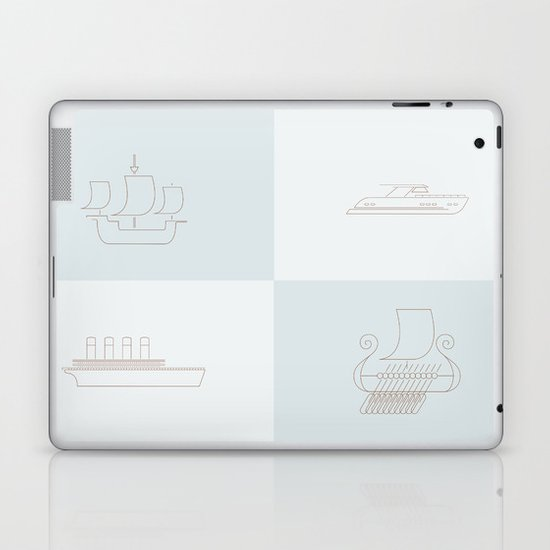 Then and Now Laptop & iPad Skin
