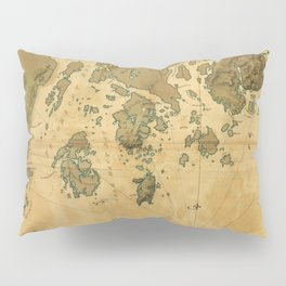 Coast of Maine from Frenchmans Bay to Mosquito Harbor (1776) Pillow Sham