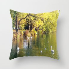 Autumn Mood at Lake Throw Pillow