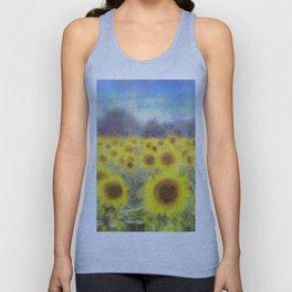 Sunflower Fields Of Dreams Art Unisex Tank Top