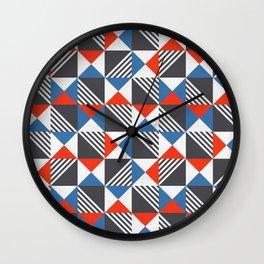 Geometric Triangle Lines Pattern Wall Clock