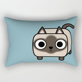 Cat Loaf - Siamese Kitty with Crossed Eyes Rectangular Pillow