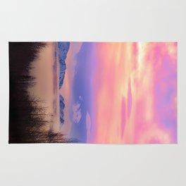 Alaskan Winter Fog Digital Painting Rug