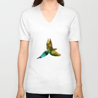 bokeh V-neck T-shirts featuring Bokeh by Osman Gökhan Uyan
