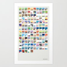 Poke-Pantone 3 (Hoenn Region) Art Print