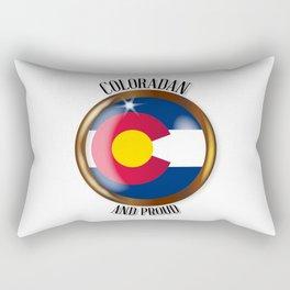 Colorado Proud Flag Button Rectangular Pillow