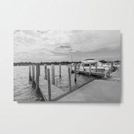 Saugatuck Boating Dock Metal Print