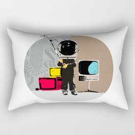 Check your head out - Collage Rectangular Pillow