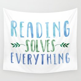 Reading Solves Everything (Green/Blue) Wall Tapestry