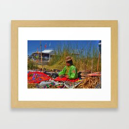 Uros Woman Framed Art Print
