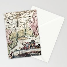 New England old map with New Amsterdam Stationery Cards