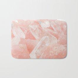 Light Pink Rose Quartz Crystals Bath Mat