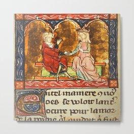 Arthur Legend 2 Lancelot and Guenevere Metal Print