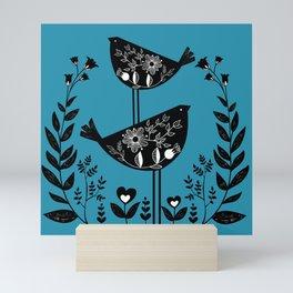 Danish Birds Bring Good Luck And A Good Life Mini Art Print