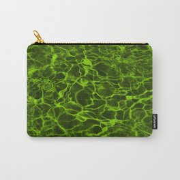 Neon Green Underwater Wavy Rippling Water Carry-All Pouch