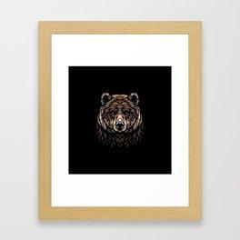 Tribal Frontal bear Framed Art Print