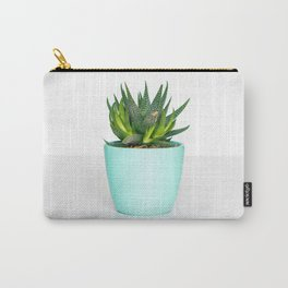 Succulent in a Blue Pot Carry-All Pouch