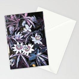 Temple of Flora Blue Lavender Mauve Stationery Cards