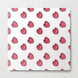 red leaf pattern Metal Print