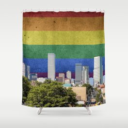 Denver, Colorado LGBT Shower Curtain