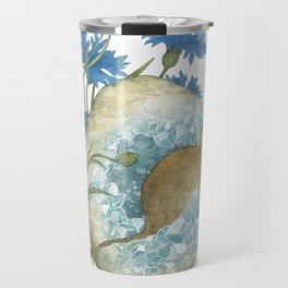 Field Mouse and Celestite Geode Travel Mug