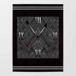 Watch. Black and white pattern . Poster