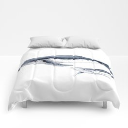 Humpback whale with calf Comforters