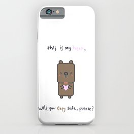 This is My Heart, Will You Capy Safe, please? - Cas the Capybara iPhone Case