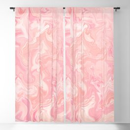 Blush pink abstract watercolor marble pattern Blackout Curtain