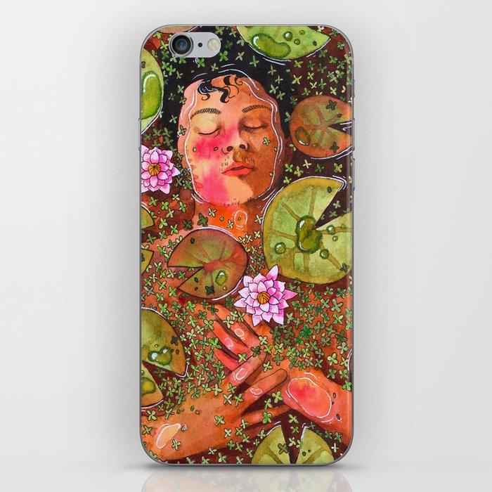 Portrait with Waterlillies iPhone Skin