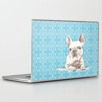 bulldog Laptop & iPad Skins featuring Bulldog by Paint Your Idea