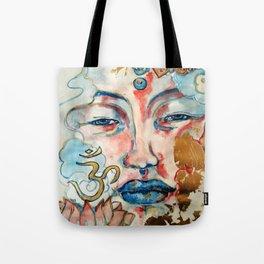 Buddah, lotus and OM Tote Bag