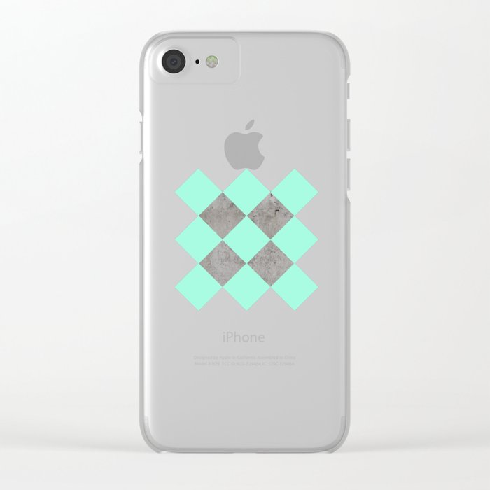 Sea on Concrete Clear iPhone Case