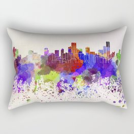 Bogota skyline in watercolor background Rectangular Pillow