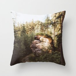 Forest trail - Landscape and Nature Photography Throw Pillow