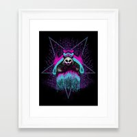 three of the possessed Framed Art Prints featuring Possessed Panda by Pigboom Art
