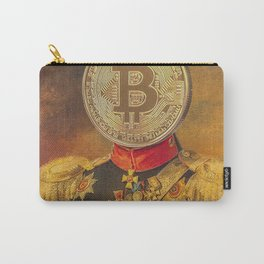 "Bit Coin Fanatic General | ""So Let Me Tell You About My Coin Base"" Carry-All Pouch"