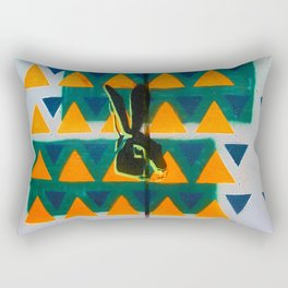 Triangle Rabbit Street Art Rectangular Pillow