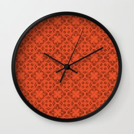 Flame Shadows Wall Clock