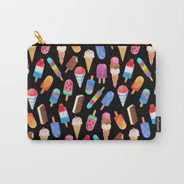 Black Summer Ice Cream and Popsicles Carry-All Pouch