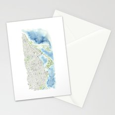 Toronto Canada Watercolor city map Stationery Cards