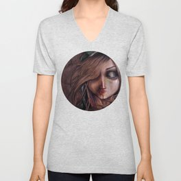 Disturbance of the pain-sensitive structures in my head Unisex V-Neck